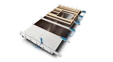 Soukup FRAMER Modular Fundamental Panel Assembly Table for Custom Wall Panel Construction