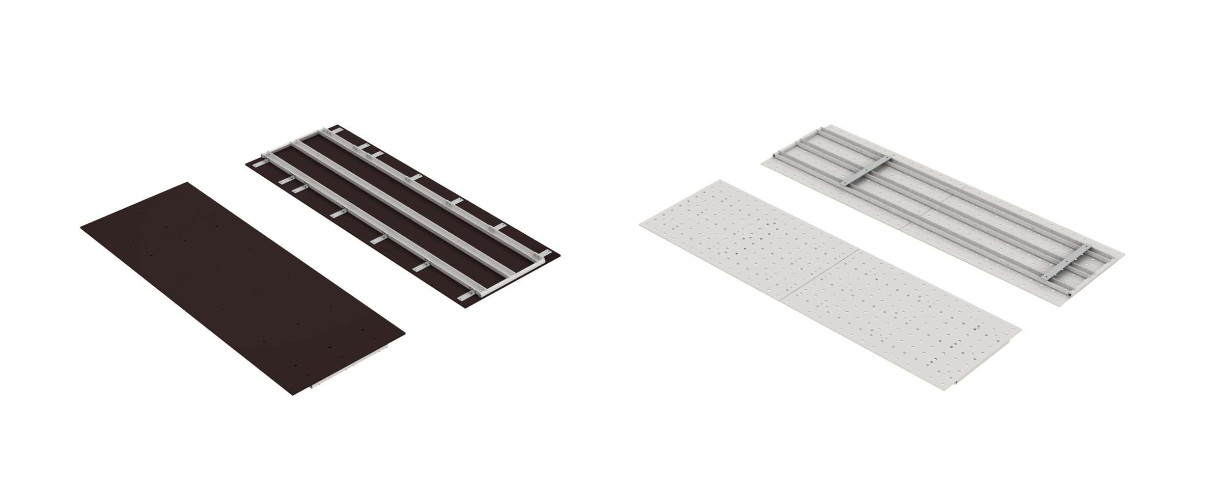 Soukup FRAMER Modular plywood panel and steel raster board