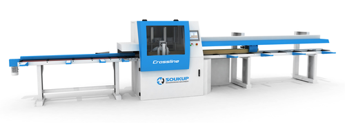 Crossline Automatic Cross-cut Saw for Framing 2x Lumber Breakout