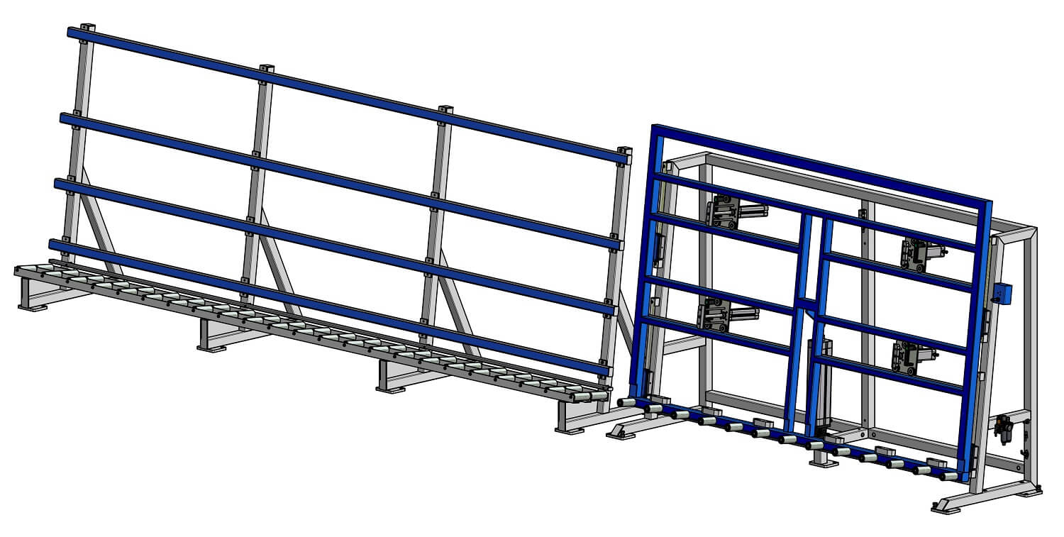 Diagram of Soukup America GW 2500 Mounting and Glazing Stand