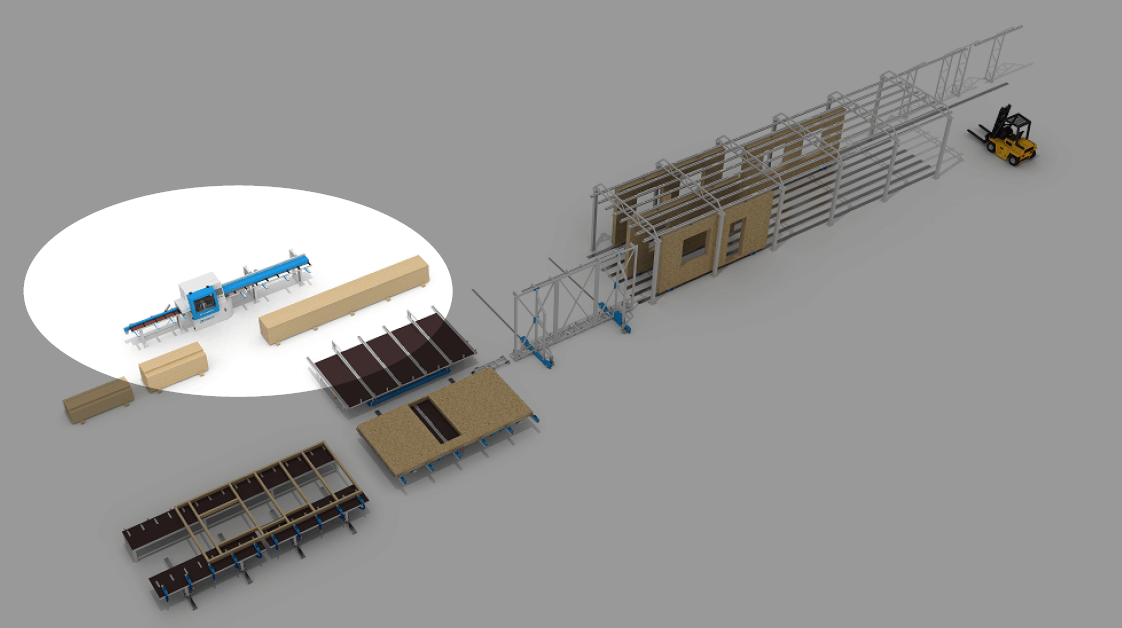 Lean Off-Site Construction Process First Step: 2x Lumber Breakout and Material Processign