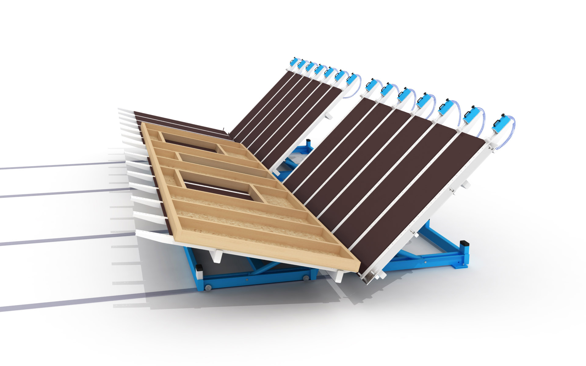 WING Robust Butterfly Lifting Table for Prefabricated Panel Construction